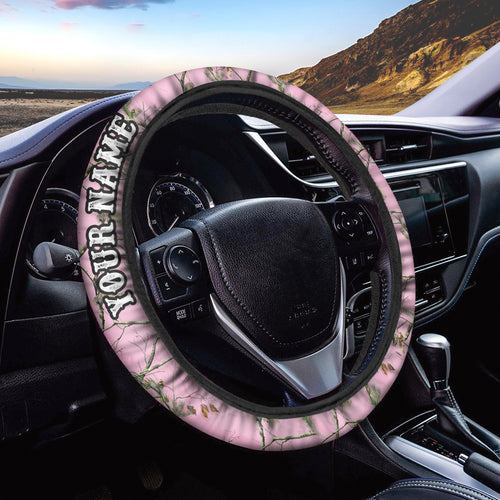 Pink tree Custom Steering wheel cover, personalized Car Accessories  - Chipteeamz IPHW936