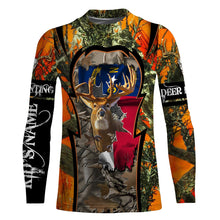 Load image into Gallery viewer, North Carolina Deer Hunting camo Customize Full printing flag Hunting shirts for men, women and kids - IPH2101