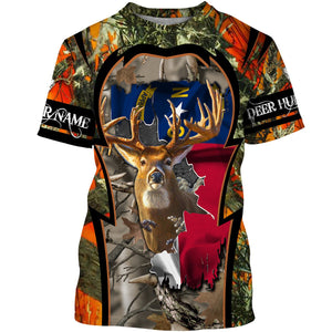 North Carolina Deer Hunting camo Customize Full printing flag Hunting shirts for men, women and kids - IPH2101