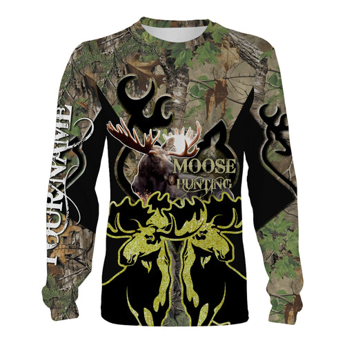 Moose Hunting realtree camo Custom All over print shirts for men,women and kids - Personalized Hunting gifts - IPH2483