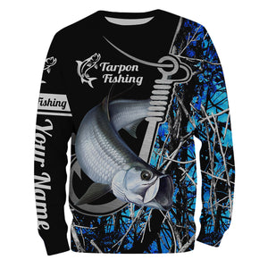 Tarpon blue muddy camo fish hook Customize name All over print shirts - fishing gift for men and women - IPH1492