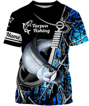Load image into Gallery viewer, Tarpon blue muddy camo fish hook Customize name All over print shirts - fishing gift for men and women - IPH1492