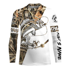 Load image into Gallery viewer, Red Snapper Fishing tatoo Camo UV protection quick dry customize name long sleeves shirts UPF 30+ personalized fishing apparel gift for Fishing lovers - IPH1829