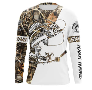 Red Snapper Fishing tatoo Camo UV protection quick dry customize name long sleeves shirts UPF 30+ personalized fishing apparel gift for Fishing lovers - IPH1829