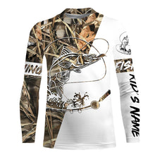 Load image into Gallery viewer, Snook Fishing tatoo Camo UV protection quick dry customize name long sleeves shirts UPF 30+ personalized fishing apparel gift for Fishing lovers - IPH1830