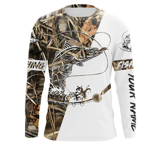 Snook Fishing tatoo Camo UV protection quick dry customize name long sleeves shirts UPF 30+ personalized fishing apparel gift for Fishing lovers - IPH1830