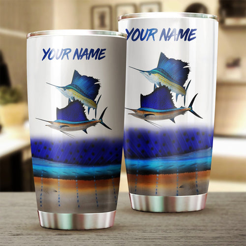 Sailfish Fishing Customize name Tumbler Cup Personalized Fishing gift for fisherman - IPH1076