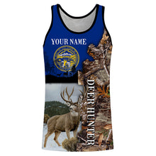 Load image into Gallery viewer, NEB Nebraska Mule Deer Hunting camo clothing Nebraska flag Deer hunter Customize name 3D All over print shirts - personalized Patriotic hunting apparel gift for men, women and kids - IPH2100