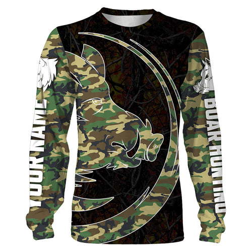 Boar Hunting Camo Custom All over print Shirts - personalized camo shirts for Hunting lovers - IPH2547