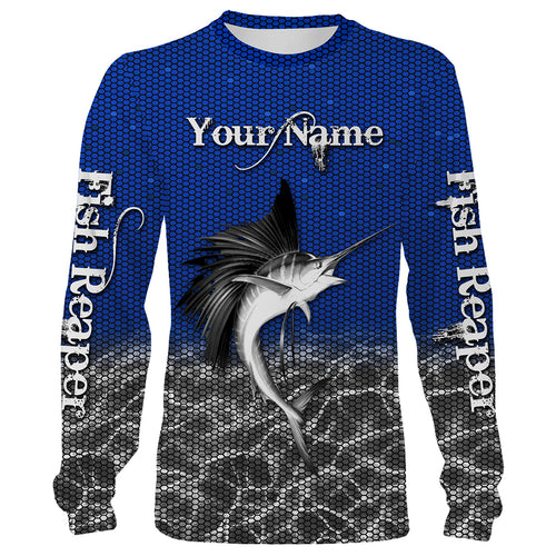 Sailfish Fishing Fish Reaper Customize name All over print shirts Personalized Fishing gift for men and women - IPH1433
