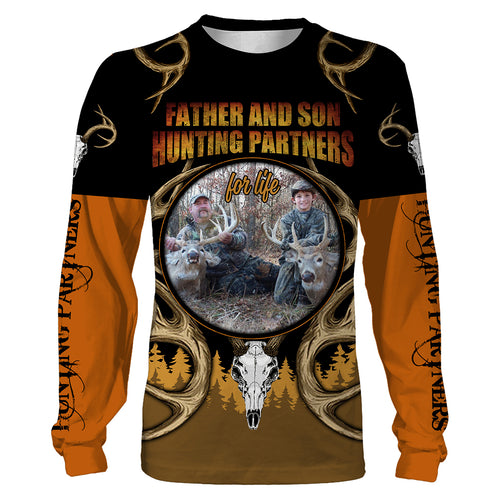 Father and Son Hunting Partners for life Custom photo All over print Shirts, personalized Hunting gifts - IPHW272