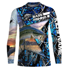 Load image into Gallery viewer, Largemouth Bass Fishing Skeleton Fishing Skull star Camo UV protection quick dry customize name long sleeves shirts UPF 30+ personalized gift for Fishing lovers - IPH1781