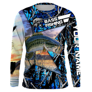 Largemouth Bass Fishing Skeleton Fishing Skull star Camo UV protection quick dry customize name long sleeves shirts UPF 30+ personalized gift for Fishing lovers - IPH1781