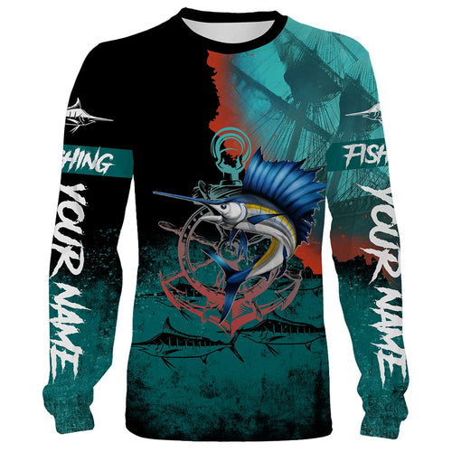 Sailfish fishing Customize name All over print shirts - personalized fishing gift for men and women - IPH1011