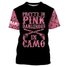 Load image into Gallery viewer, Pretty in Pink camo Custom shirt for Country girl - T shirt, Long sleeve, Sweatshirt, Tank Top, Zip up, Hoodie shirt styles to choose Hunting apparel for Hunting girl and women- IPH2145