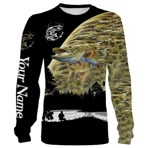 Musky Fishing scale Customize name All over print shirts - personalized fishing gift for men and women - IPH1022