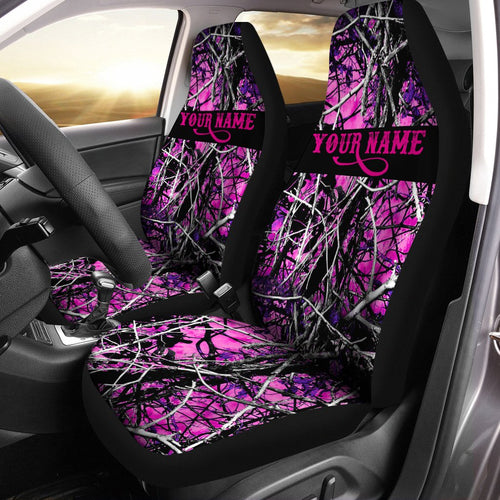 Pink camouflage pink muddy camo Customize 3D Printed Seat Covers, perfect car accessories - personalized gift for fishing, hunting lovers  Set of 2 - IPH1962