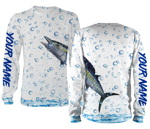 Wahoo Fishing Wrap around bubbles Customize name All over print shirts - personalized funny fishing shirts for men, women and kid - IPH1212