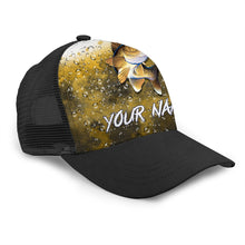 Load image into Gallery viewer, Walleye Custom Adjustable Mesh Unisex Fishing Baseball Trucker Angler hat cap - personalized Fishing gift for men and women - IPH1502