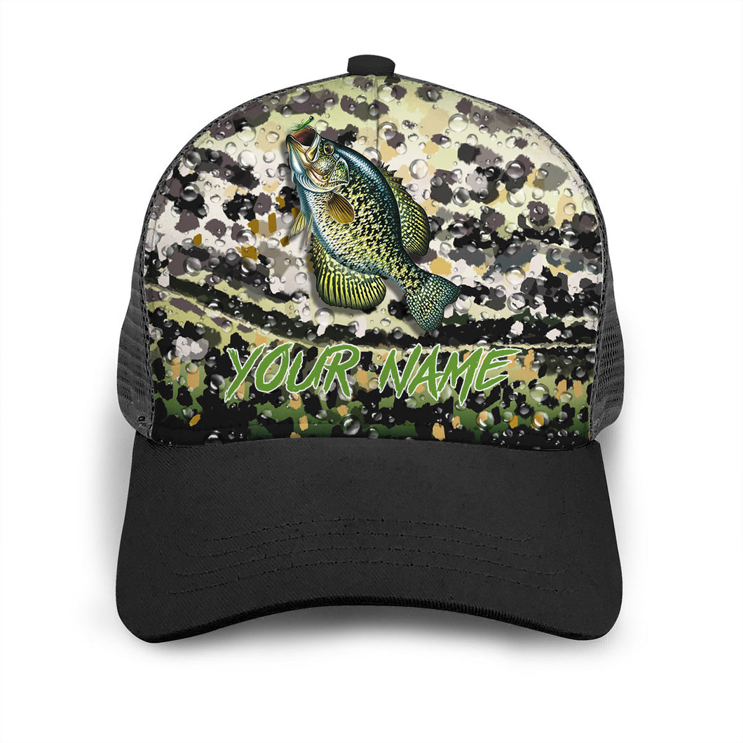 Crappie Custom Adjustable Mesh Unisex Fishing Baseball Trucker Angler hat cap - personalized Fishing gift for men and women - IPH1549