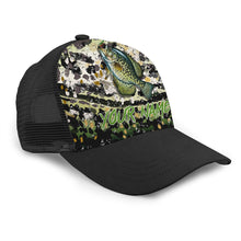Load image into Gallery viewer, Crappie Custom Adjustable Mesh Unisex Fishing Baseball Trucker Angler hat cap - personalized Fishing gift for men and women - IPH1549