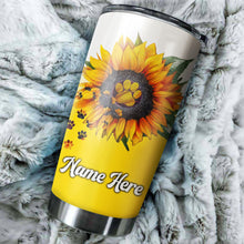 Load image into Gallery viewer, 1pc Dog sunflower Customize name Stainless Steel Tumbler Cup - Personalized  gift for Dog lovers - IPH1770