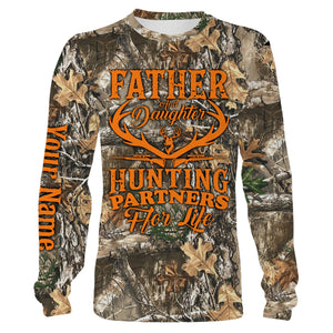 Father and daughter Hunting partners for life Customize name 3D All over print shirts - personalized hunting apparel gift for men, women and kid - IPH1948