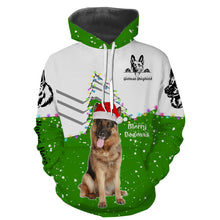 Load image into Gallery viewer, Cute funny German Shepherd Christmas 3D All over Sweatshirt, Long sleeve, Zip up, Hoodie shirt styles to choose for Dog lovers - IPH2160