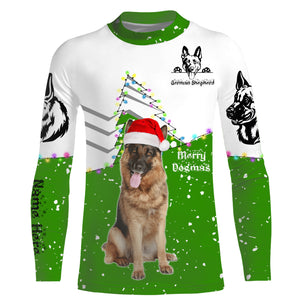 Cute funny German Shepherd Christmas 3D All over Sweatshirt, Long sleeve, Zip up, Hoodie shirt styles to choose for Dog lovers - IPH2160