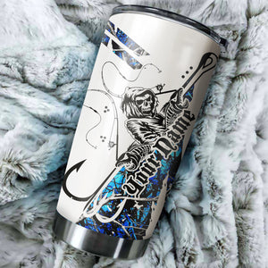 1PC blue muddy camo Fishing Fish Reaper Fish hook Customize name Stainless steel beer, coffee Tumbler cup - Personalized Fishing gift for Fishing lovers - IPH1810