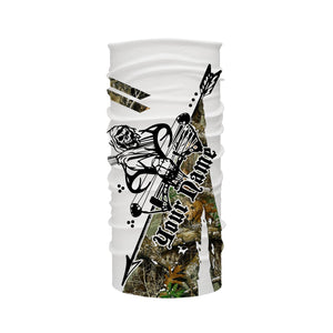 Archery bow Hunting reaper camo Long sleeve UV shirt ideas Customize name gift for men, women and kids - IPH1856