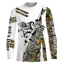Load image into Gallery viewer, Archery bow Hunting reaper camo Long sleeve UV shirt ideas Customize name gift for men, women and kids - IPH1856
