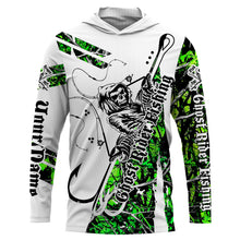 Load image into Gallery viewer, Fishing Skull UV protection quick dry customize name long sleeves shirts UPF 30+ personalized gift for Fishing lovers - IPH1767
