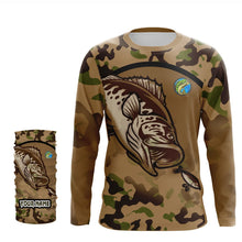 Load image into Gallery viewer, Bass Fishing Camo Custom name Fishing jersey Sun shirts UPF 30+ for men, women and kids - IPH1797