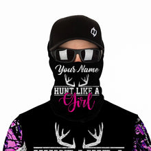 Load image into Gallery viewer, Pink muddy camo Hunt like a girl Custom Full printing Hoodie, Long sleeve, Zip up, T shirt, Tank top various styles to choose for muddy girl - IPH2214