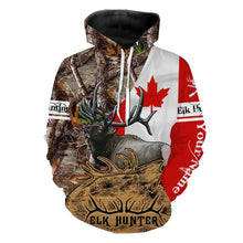 Load image into Gallery viewer, Canada Elk Hunting Customize Name 3D All Over Printed Shirts Personalized Hunting Gift  For Adult And Kid- NQS548