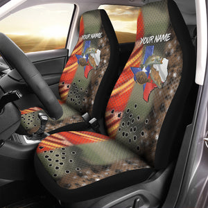 Texas Slam Fishing Custom 3D All over Seat Cover, perfect car accessories - personalized fishing gift for fishing lovers - NQS555