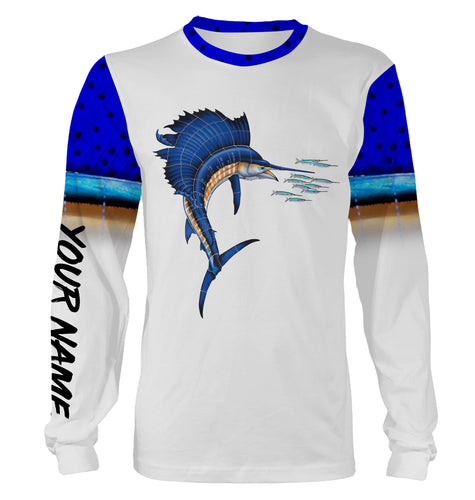 Sailfish Fishing 3D All Over print shirts personalized fishing apparel for Adult and kid NQS579