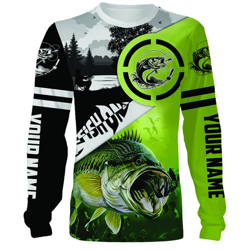Largemouth Bass fishing Customize Name All Over Printed Shirts For Men And Women Personalized Fishing Gift NQS241