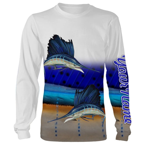 Sailfish Fishing Customize Name 3D All Over Printed Shirts For Adult And Kid Personalized Fishing Gift NQS269