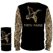 Load image into Gallery viewer, Duck Hunting Waterfowl Camo Customize Name 3D All Over Printed Shirts Personalized Hunting gift For Adult And Kid NQS835