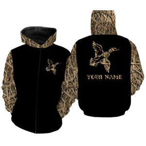 Duck Hunting Waterfowl Camo Customize Name 3D All Over Printed Shirts Personalized Hunting gift For Adult And Kid NQS835