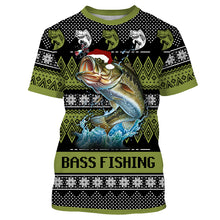Load image into Gallery viewer, Funny ugly christmas sweatshirt Bass fishing shirts for men, women and Kid NQS1001