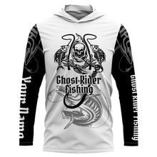 Load image into Gallery viewer, Ghost Rider Fishing Kingfish Fish Reaper UV protection quick dry customize name long sleeves shirt UPF 30+ personalized gift for Fishing lovers - NQS714
