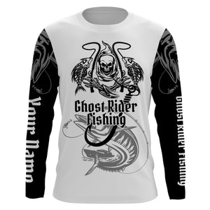 Ghost Rider Fishing Kingfish Fish Reaper UV protection quick dry customize name long sleeves shirt UPF 30+ personalized gift for Fishing lovers - NQS714