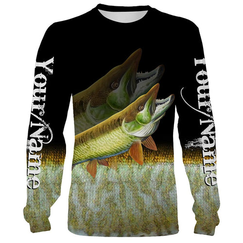 Musky fishing Customize name All over print shirts personalized fishing gift - NQS225