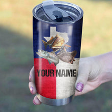 Load image into Gallery viewer, Texas Slam Texas Flag Customize Name Tumbler Cup  Personalized Fishing Gift For Fisherman NQS370