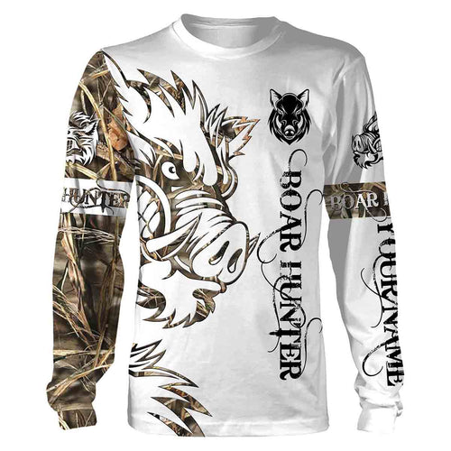Boar Hunting Orange Tattoo Realtree Camo hunting clothes skull Customize Name 3D All Over Printed Shirts Personalized Hunting gift For Adult And Kid NQS869