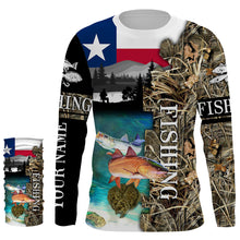 Load image into Gallery viewer, TX Texas slam fishing camo shirts for men fishing in texas Performance Long Sleeve UV protection quick dry Customize name UPF 30+ shirt for men and women and Kid - NQS1027