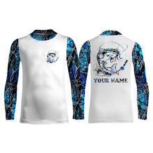 Load image into Gallery viewer, Catfish fishing blue muddy camo UV protection quick dry Customize name long sleeves UPF 30+ personalized gift for fisherman- NQS914